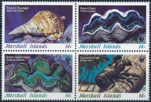 WWF: Kagyló négyestömb, WWF: Shells block of 4