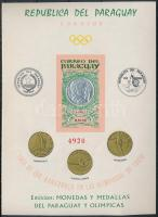 1965 Tokiói Olimpia; érmék blokk Mi 67 II