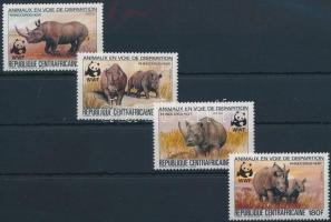 WWF Black rhinoceros set Keskenyszájú orrszarvú sor
