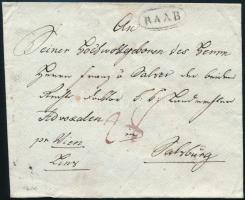 1819 Portós levél ,,RAAB - ,,SALZBURG