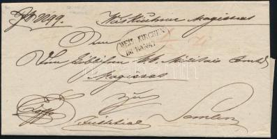 1837 Ex offo ,,WEISSKIRCHEN IN BANAT - Semlin