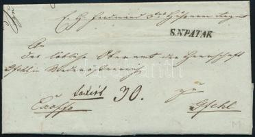 1843 Megportózott ex offo levél ,,S. N. PATAK