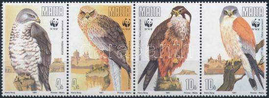 WWF: Birds of prey stripe of 4, WWF: Ragadozómadarak négyescsík