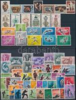 Sport, Olympics, Hunting 7 sets + 6 stamps, Sport, olimpia, vadászat motívum 7 db klf sor + 6 db önálló érték 2 stecklapon