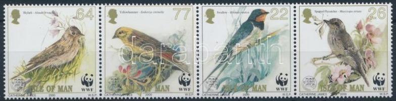 WWF Birds block of 4, WWF: Énekesmadarak sor négyescsíkban