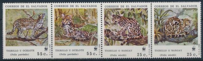 1968 WWF: Kistestű nagy macskák négyescsík Mi 1734-1737