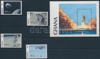 A Holdra lépés 20. évfordulója sor + blokk, Apollo 11, 20th anniversary set + block