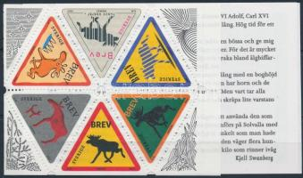 Üdvözlőbélyegek, jávorszarvas bélyegfüzet, Greeting stamps, moose stamp booklet
