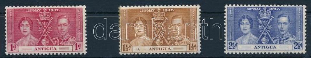 1937 VI. György és Erzsébet megkoronázása sor Mi 75-77