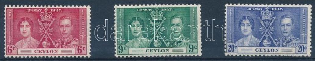 George VI and Elizabeth Coronation set VI. György és Erzsébet megkoronázása sor