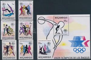 1983 Nyári olimpia, Los Angeles sor Mi 928-934 + blokk 15