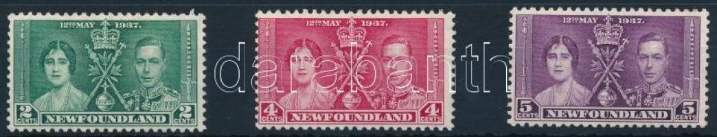 George VI and Elizabeth Coronation set, VI. György és Erzsébet megkoronázása sor