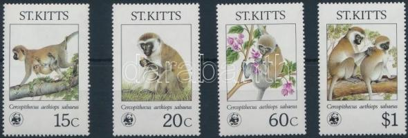 1986 WWF: Szavannacerkóf félék sor Mi 184-187