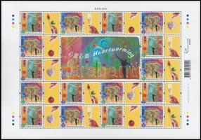 Greetings stamps complete sheet, Üdvözlő bélyegek teljes ív