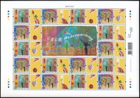 Greeting stamp complete sheet, Üdvözlő bélyegek teljes ív