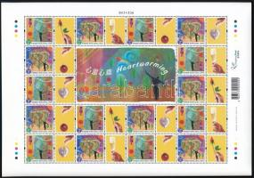 Greeting stamps sheet, Üdvözlő bélyegek teljes ív