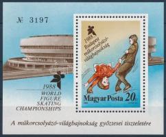 Figure-skater block present of the post, Műkorcsolyázó VB ajándék blokk