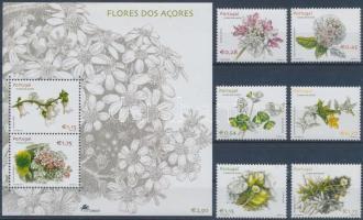Flowers + block Virágok + blokk