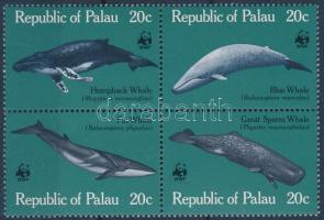 WWF Whales block of 4, WWF Bálnák négyestömb