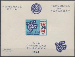 1961 Egyesült Európa vágott blokk Mi 17