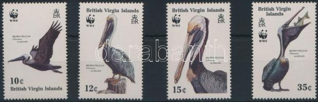 1988 WWF: Barna gödény sor Mi 637-640