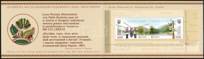 Europa CEPT Visit Ukraine stamp booklet, Europa CEPT Látogasson Ukrajnába bélyegfüzet