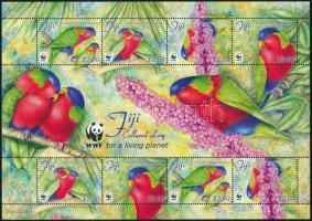 2012 WWF Papagáj kisív Mi 1341-1344