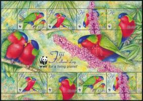 WWF: Parrot minisheet, WWF: Papagáj kisív