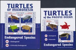 Turtles minisheet + block Teknősök kisív + blokk