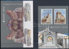 Europa CEPT Visit Bulgaria block + stamp-booklet, Europa CEPT Látogasson Bulgáriába blokk + bélyegfüzet