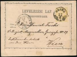 1871 Díjjegyes levelezőlap/ PS-card GLINA (Gudlin 600 pont) - MARGARETHEN WIEN