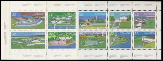 Forts stamp booklet, Erődök bélyegfüzet