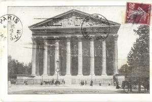 Paris - 2 pre-1945 French town-view postcards: La Place de la Concorde, LÉglise Sainte-Madeleine
