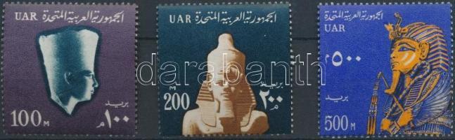 1964 Nemzeti jelképek: fáraók sor záróértékei Mi 201-203