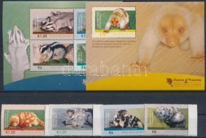 Cuscus and possums set + minisheet + block, Kuszkuszok és erszényes mókusok sor + kisív + blokk