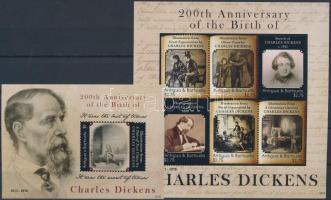 Charles Dickens minisheet + block, Charles Dickens kisív  + blokk