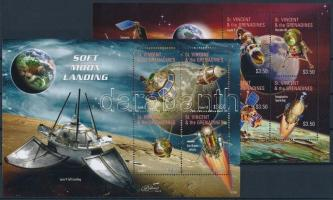 Space exploration, Lunar probes 2 minisheets, Űrkutatás, Holdszondák 2 kisív