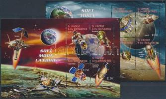 Space Research 2 minisheets, Űrkutatás, Holdszondák 2 kisív