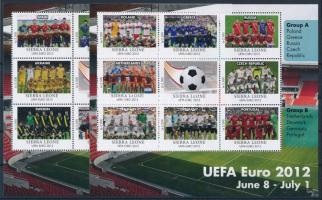 UEFA Cup - Football Championship 2 mini-sheet, UEFA Kupa - Labdarúgó EB 2 kisív Mi 5675-5692