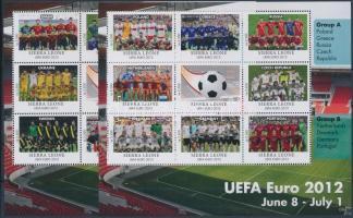UEFA Cup - Football Championship 2 mini-sheet UEFA Kupa - Labdarúgó EB 2 kisív