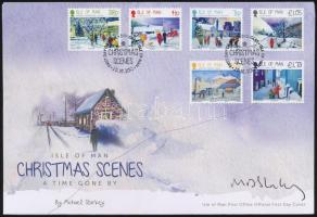 Christmas set on FDC, Karácsony sor FDC a tervező aláírásával