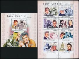 Tony Curtis minisheet + block Tony Curtis kisív  + blokk