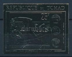 1971 Olimpia aranyfóliás vágott bélyeg Mi 416 B
