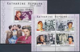 Katharine Hepburn minisheet + block Katharine Hepburn kisív  + blokk