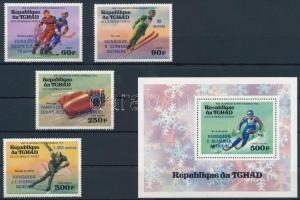 1976 Téli olimpia sor Mi 731-734 + blokk Mi 63