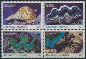 WWF Shell block of 4 WWF: Kagyló négyestömb