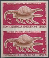 See snail imperforated pair, Tengeri csiga vágott pár