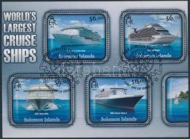 Cruise ships mini sheet Luxushajók kisív