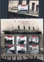Titanic minisheet + block Titanic kisív  + blokk