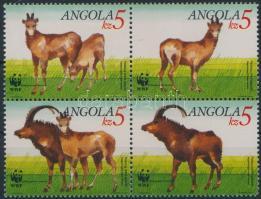 WWF Giant antelope block of 4, WWF Óriás antilop négyestömb